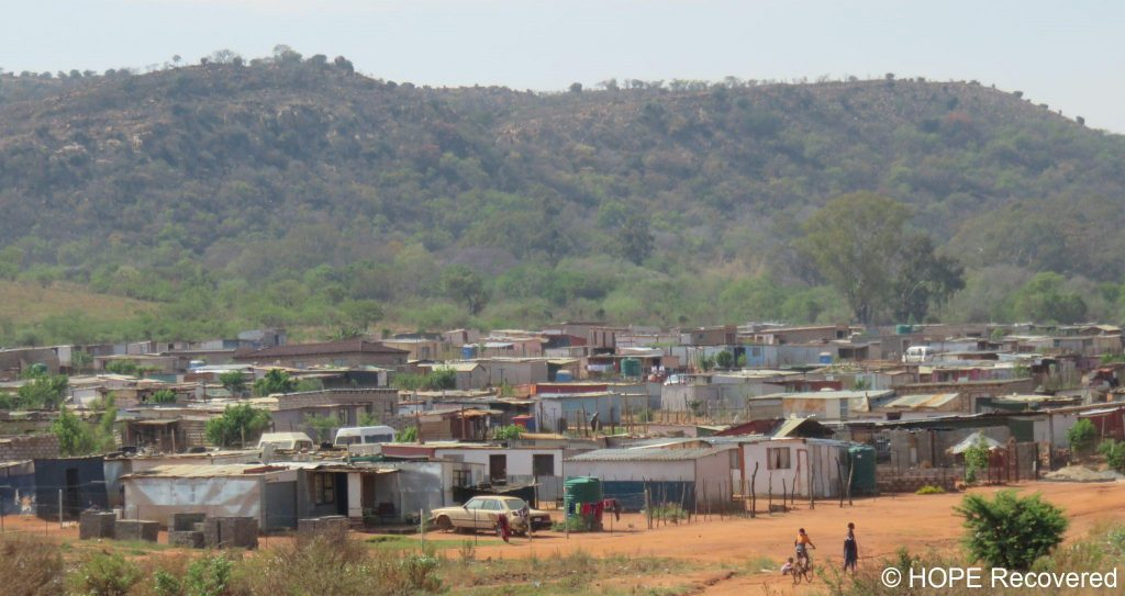 informal settlement without running water and electricity