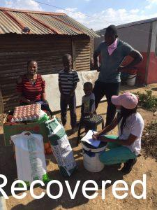 Household survey in the township and food parcel distribution